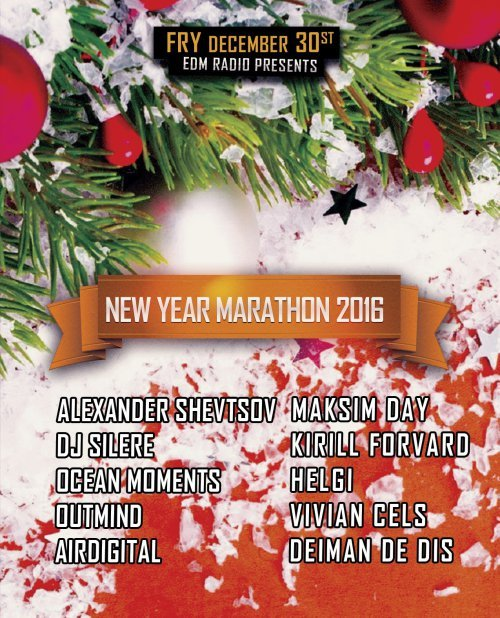 EDM Radio - New Year Marathon 2016